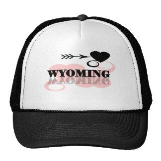 Pink Heart Wyoming Trucker Hat