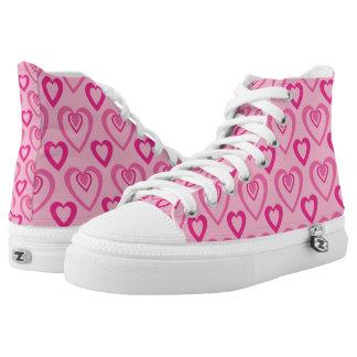 Pink Heartbeat Hi Tops