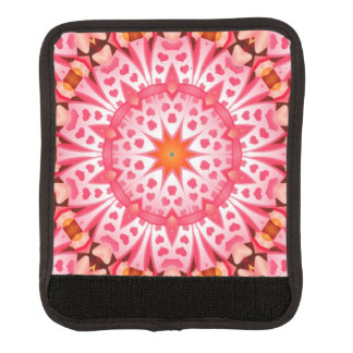 Pink hearth pattern luggage handle wrap