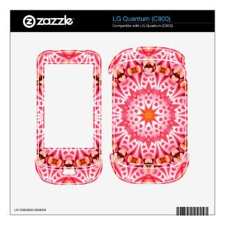 Pink hearth pattern LG quantum decals