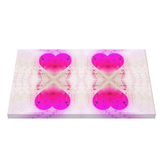 Pink Hearts 4 Canvas Print