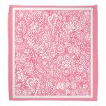 Pink Hearts and Flowers bandana