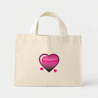 Pink Hearts Canvas Bags