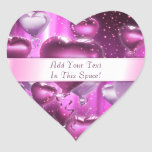 Pink Hearts Balloons Customizable Heart Stickers