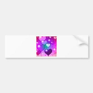 Pink Hearts Balloons Design Bumper Sticker