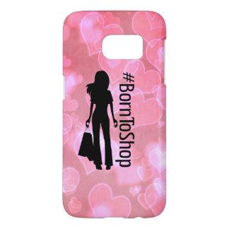 Pink Hearts #BornToShop Samsung Case