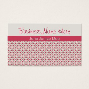 Professional Business Pink Hearts Business Card