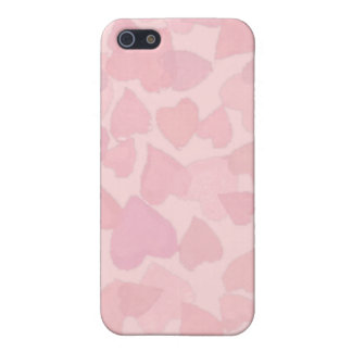 PINK HEARTS by SHARON SHARPE Case For iPhone SE/5/5s