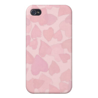 PINK HEARTS by SHARON SHARPE iPhone 4/4S Cases