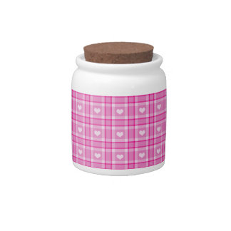 Pink Hearts Candy Jar