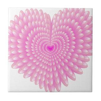 Pink hearts ceramic tile