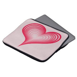 Pink hearts computer sleeve