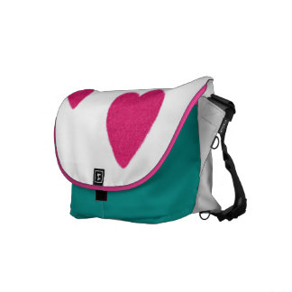 Pink hearts Courier bag