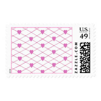 Pink Hearts Criss Cross Quilt Pattern Stamps