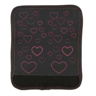 Pink Hearts Custom Background Color Handle Wrap