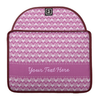 Pink Hearts custom MacBook case