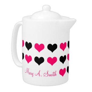 Pink Hearts Custom Name