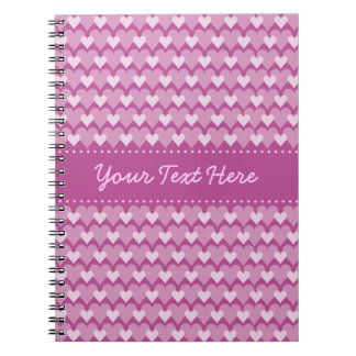 Pink Hearts custom notebook
