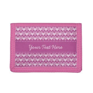 Pink Hearts custom wallets