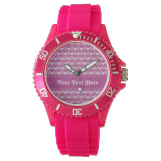 Pink Hearts custom watches