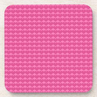 Pink hearts cute girly chic pretty pattern design beverage coaster