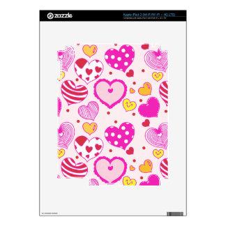 Pink hearts cute trendy girly romantic love lovely iPad 3 skin