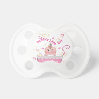 Pink Hearts Daddy's Little Girl Baby Pacifier