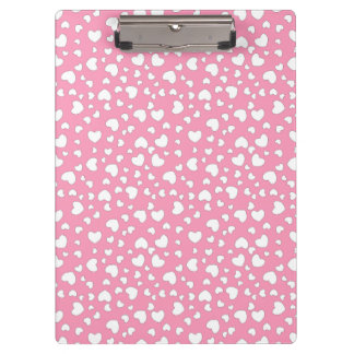 Pink Hearts Dots Clipboard