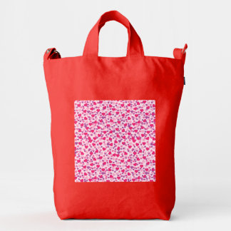 Pink Hearts for Love Duck Bag
