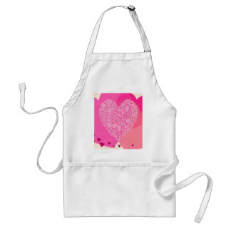 Pink Hearts for St Valentine's Adult Apron
