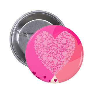 Pink Hearts for St Valentine's Pinback Button