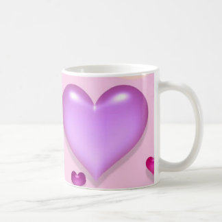 Pink hearts for the St. Valentine's day - Classic White Coffee Mug