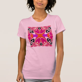 Pink Hearts Fractal Art Shirt