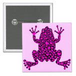 pink hearts frog pin