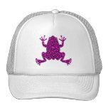 pink hearts frog trucker hat