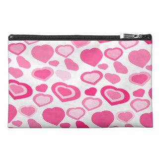 PINK hearts,girly Travel Accessory Bag