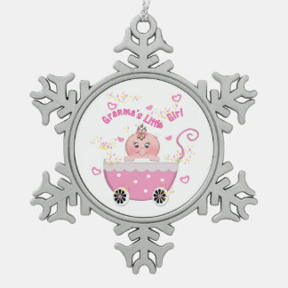 Pink Hearts Granma's Little Girl Ornament