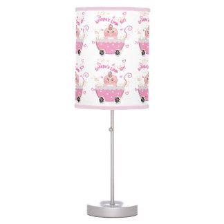 Pink Hearts Granpa's Little Girl Lamp