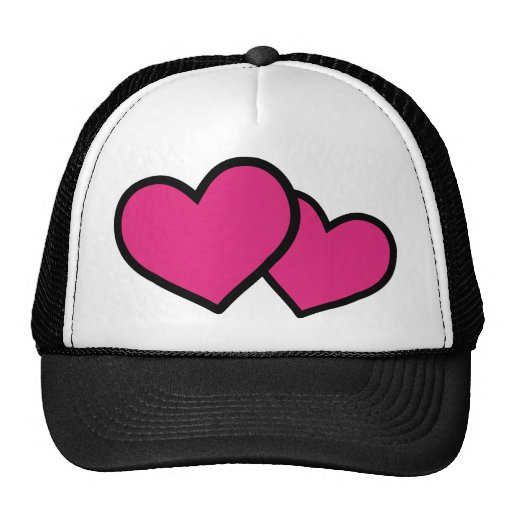 pink hearts icon love hat