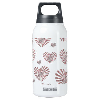 Pink Hearts Insulated Water Bottle