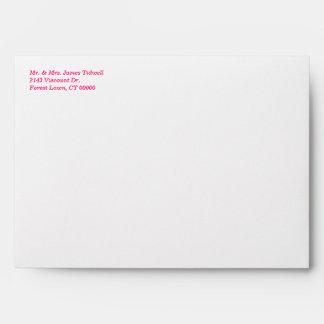 Pink Hearts Invitation Envelope