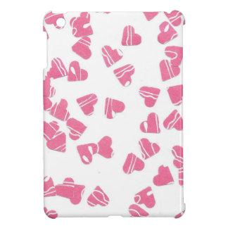 Pink hearts iPad mini case