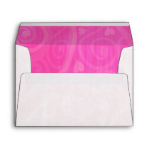 Pink Hearts Jeweled Valentines Day Envelope