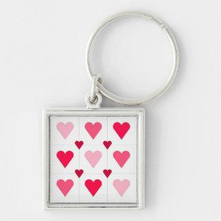 Pink Hearts Keychain