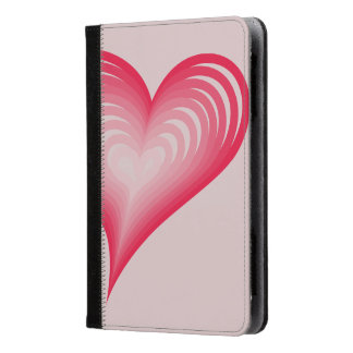 Pink hearts kindle case
