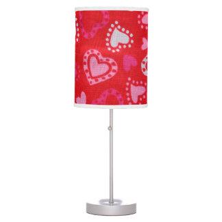 Pink Hearts Lamp