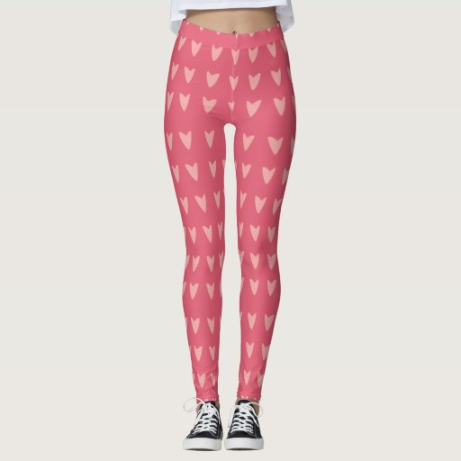 Pink Heart Leggings
