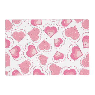 Pink Hearts Love Design Placemat