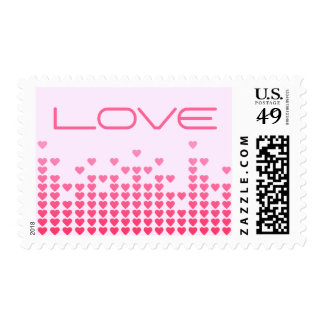 Pink Hearts Love stamps