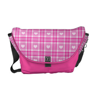 Pink Hearts Courier Bags